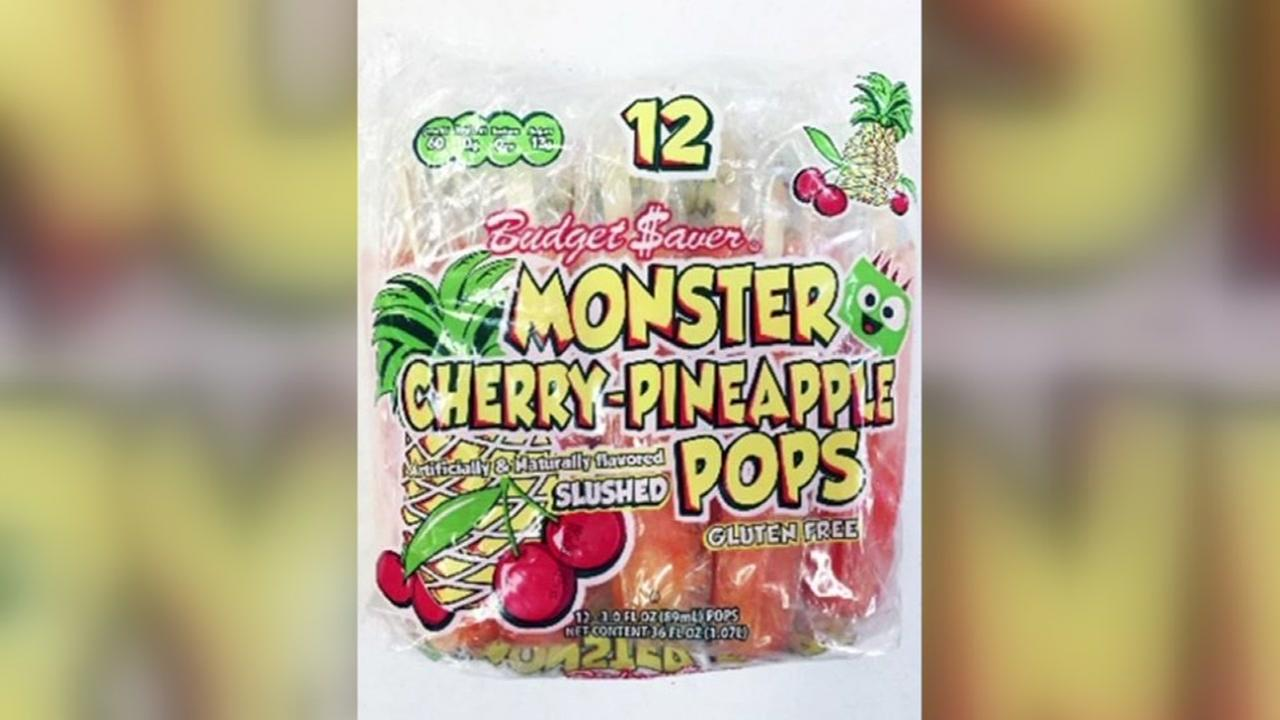Ice pops recalled over listeria contamination concerns