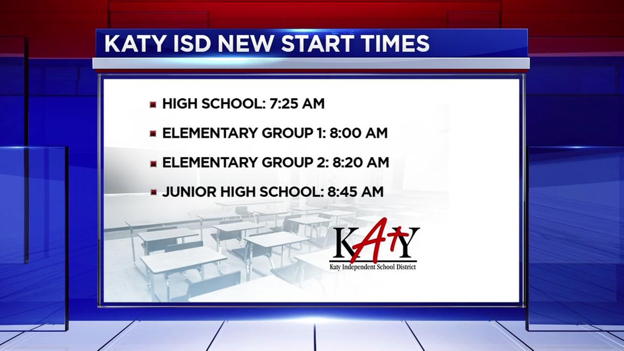 Katy ISD announces start times for 2018 school year