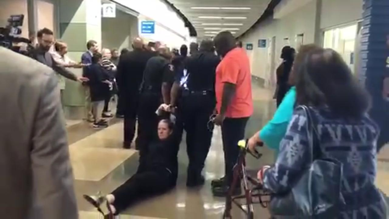 Parent dragged at HISD meeting