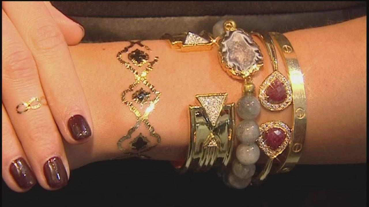 Metallic tattoos offer trendy, temporary look