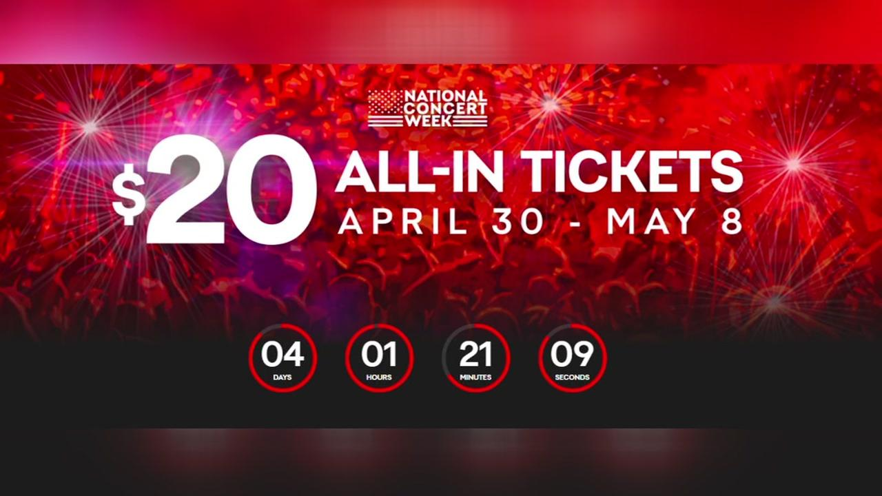 Live Nation selling $20 concert tickets
