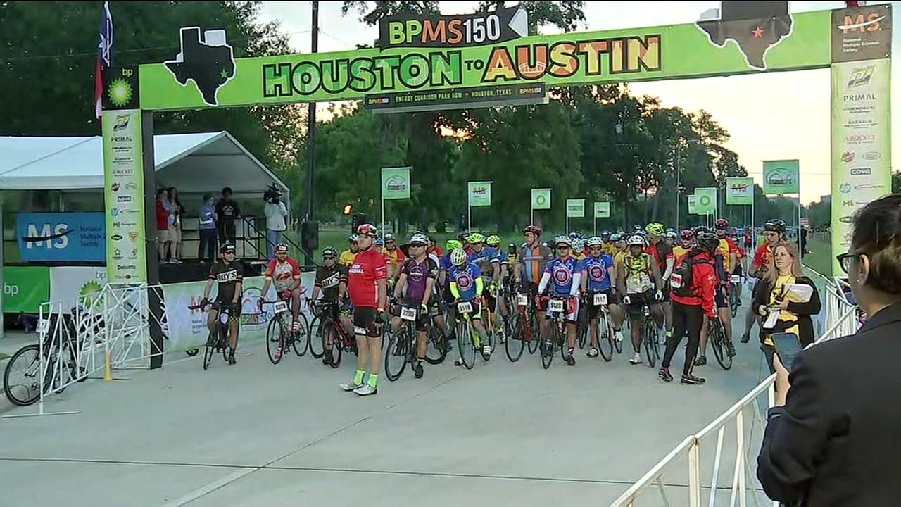 BP MS 150 cyclists gear up for long ride