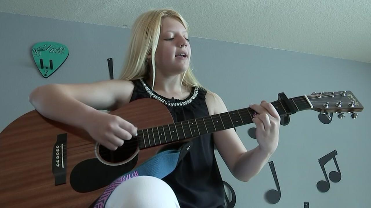 Young singer inspiring others through song