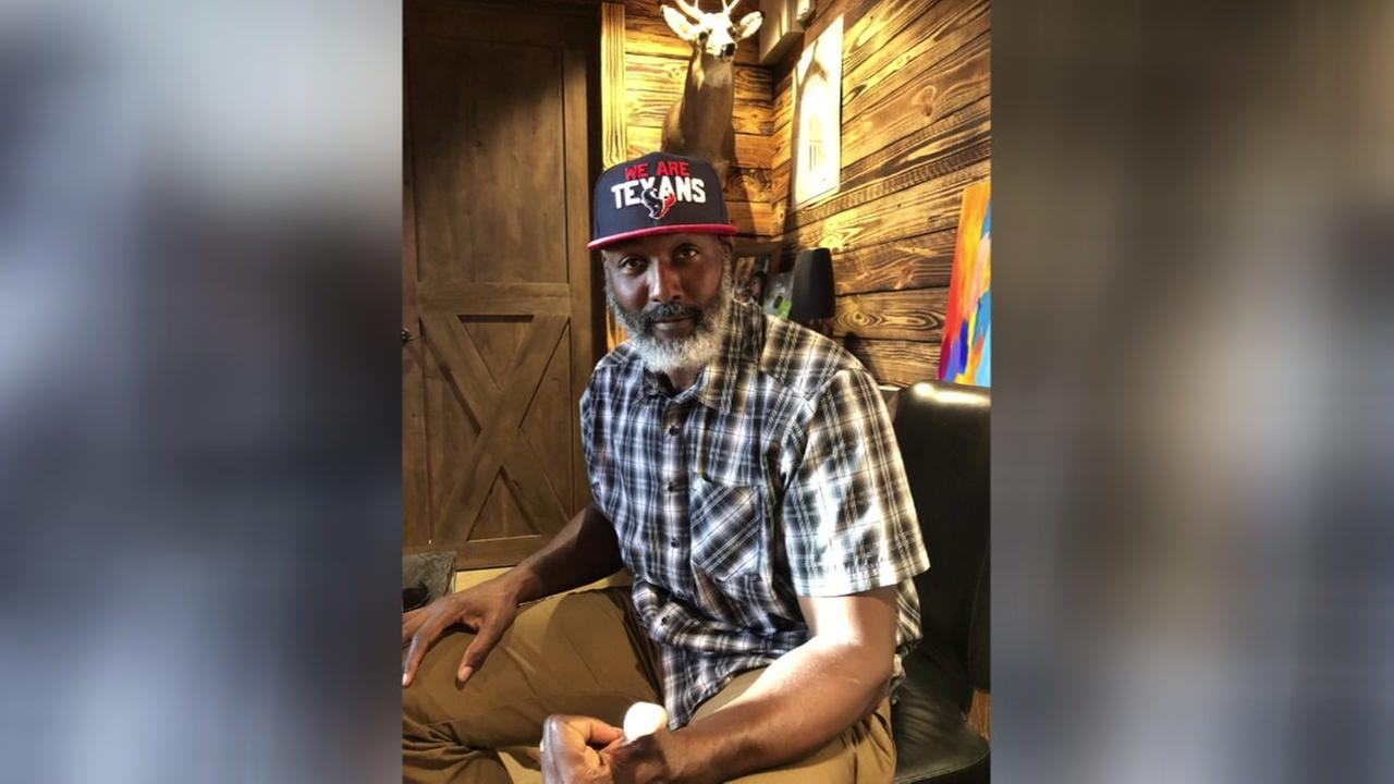 Former Utah Jazz star Karl Malone shows support for Houston team