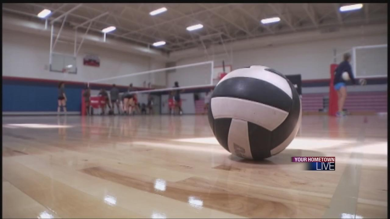 Husband, wifes volleyball teams facing off