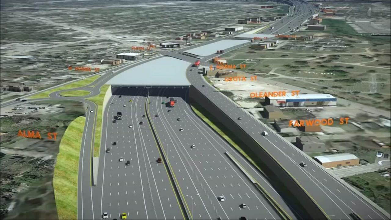 Where Houston freeways could go underground