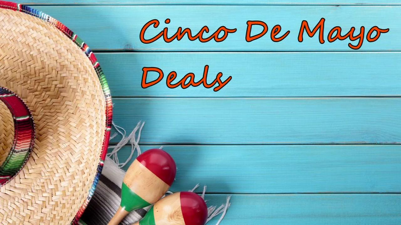 Enjoy food and drink deals on Cinco De Mayo