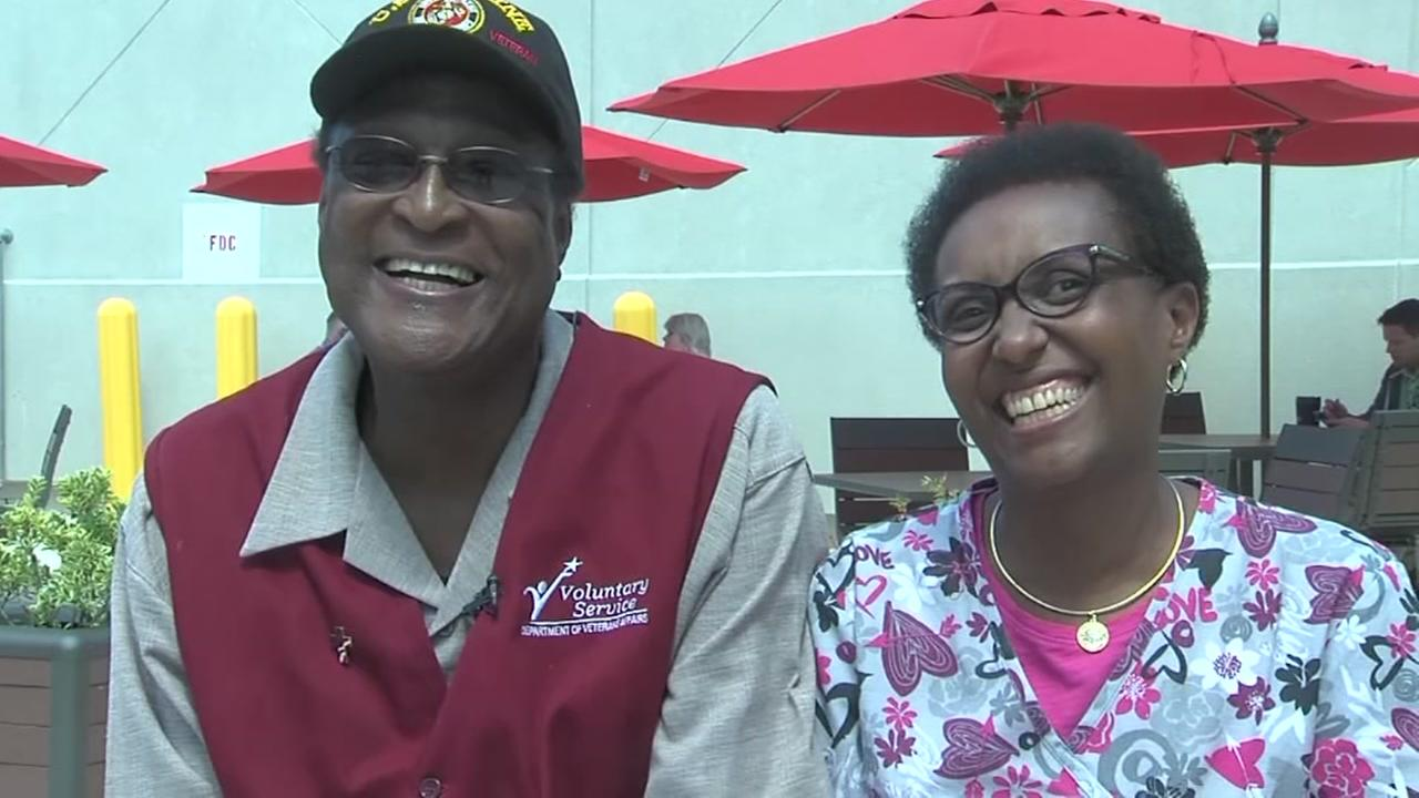 Veteran grateful to woman for kidney transplant.