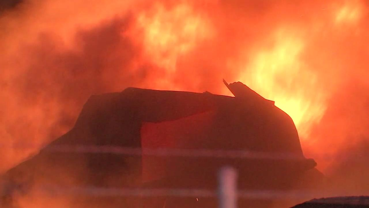 Warehouse destroyed in three-alarm fire in east Houston
