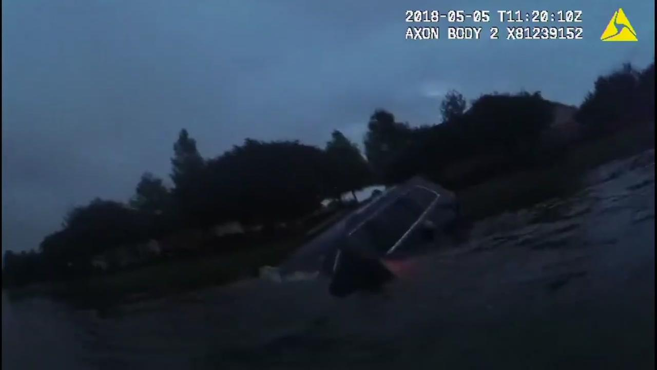 IN THE NICK OF TIME: New bodycam video shows the rescue of a woman from a Sugar Land lake