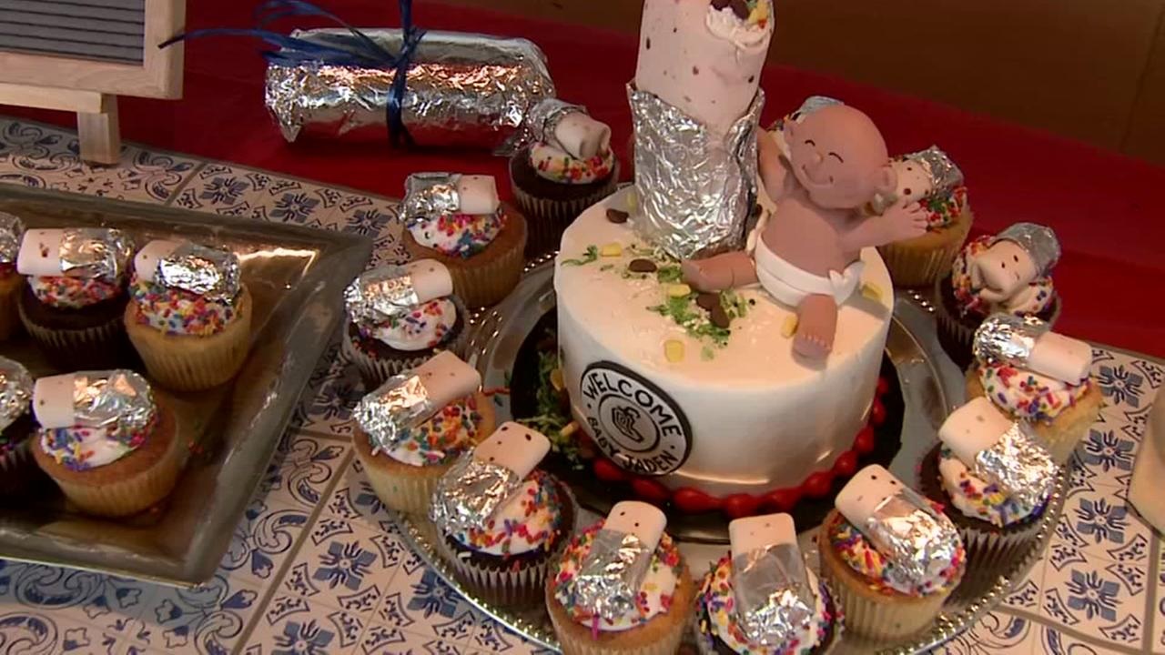 Couple has burrito-themed shower after giving birth at Chipotle