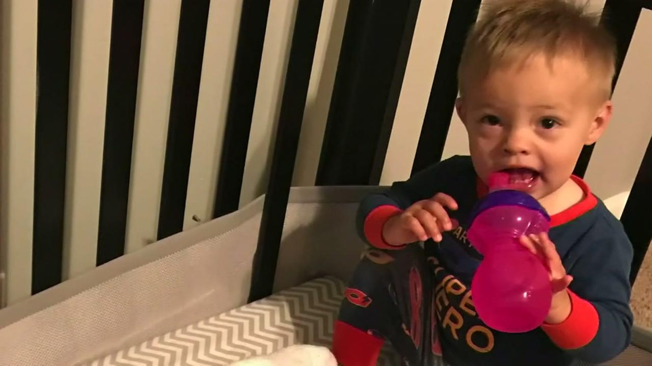 Stray bullet narrowly misses baby in crib