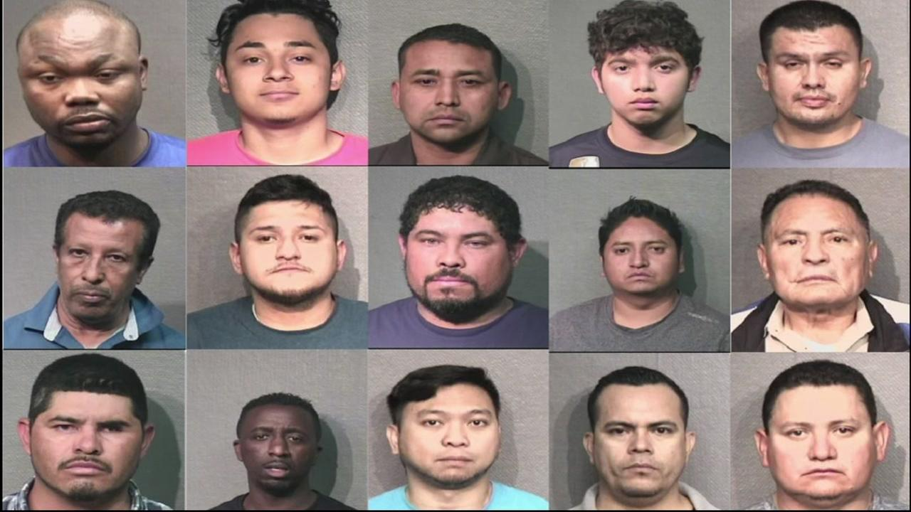 HPD has released photos of 34 suspects arrested for either compelling prostitution  or solicitation of prostitution