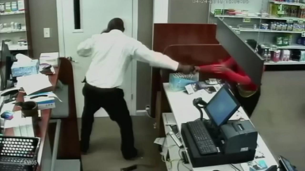 Pharmacist fights back during robbery