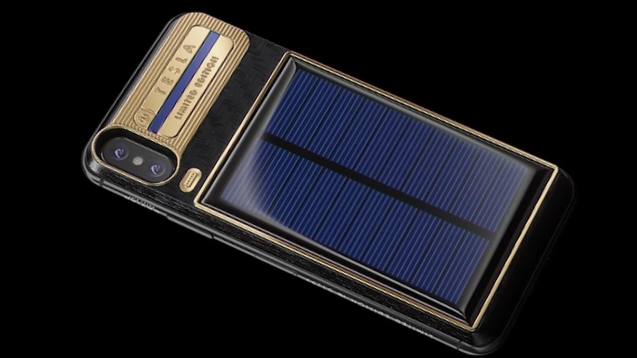 Solar iPhone X for the person with deep pockets