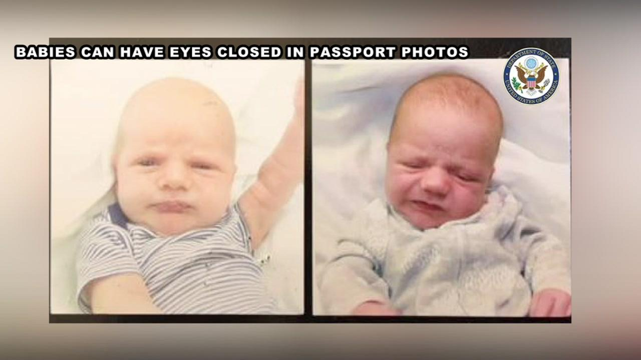 Babies may have eyes closed in passport picture, according to the State Department