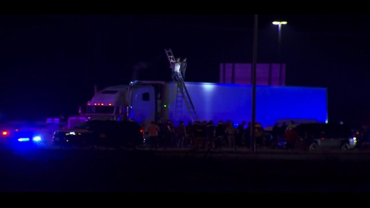 Dozens of undocumented immigrants found in sweltering truck in South Texas