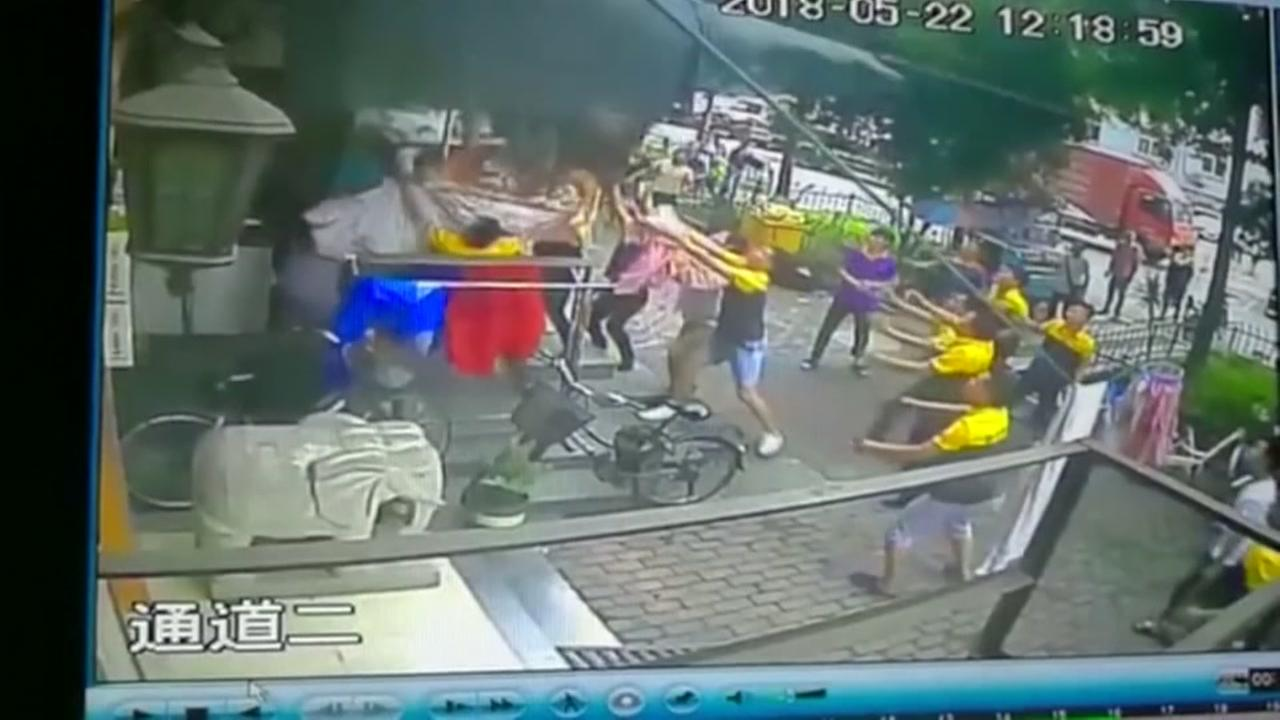 Boy survives six story fall