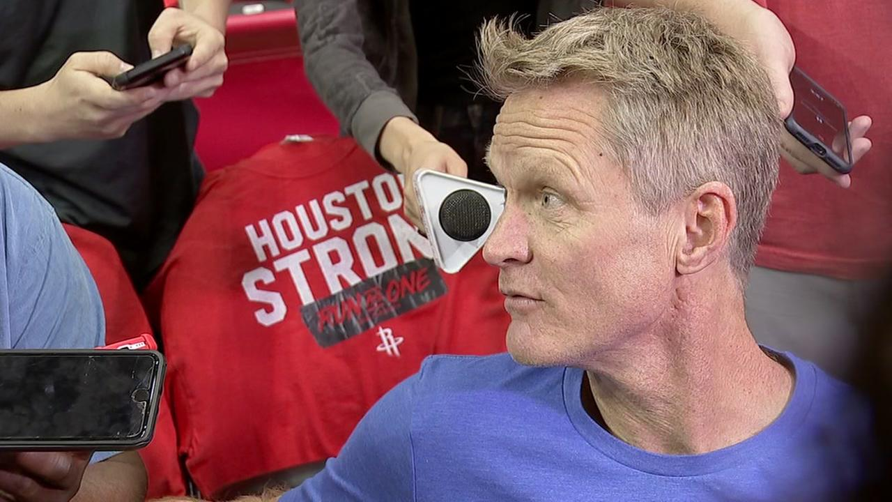 Warriors head coach Steve Kerr blasts the NFL for its new policy on the National Anthem