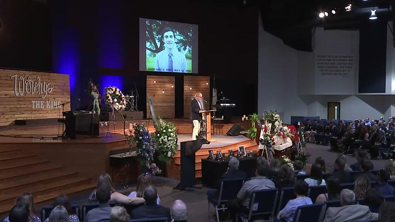 Funeral for Christian Riley Garcia, a 15-year-old victim of the Santa Fe High School shooting whos been described as a hero