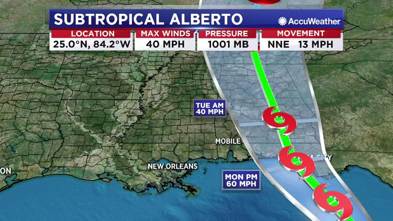 Alberto heading towards Florida Panhandle