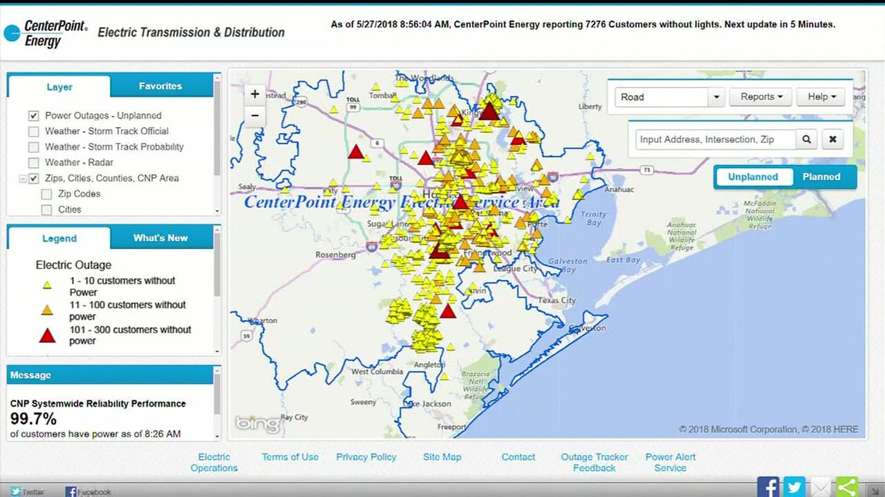 More than 7K CenterPoint customers still without power in Harris, Fort Bend counties