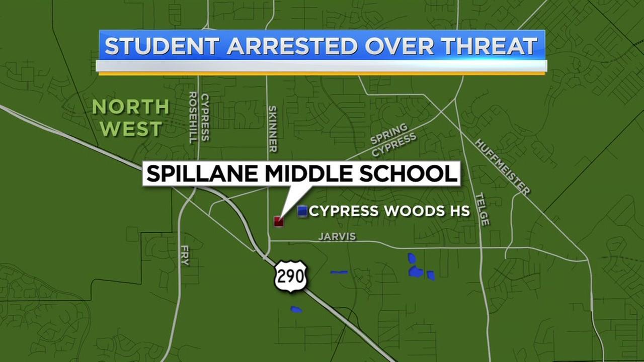 Spillane Middle School student arrested for posting threat online