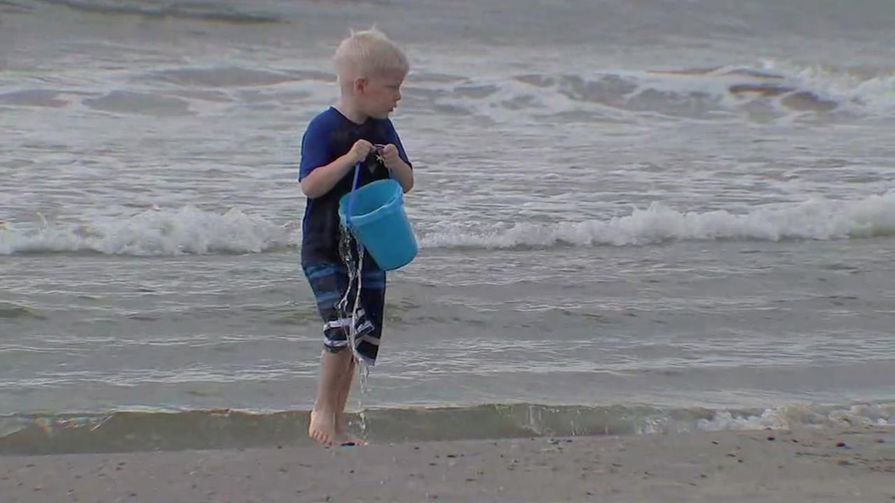 Clear water spotted on Galveston beach this Memorial Day