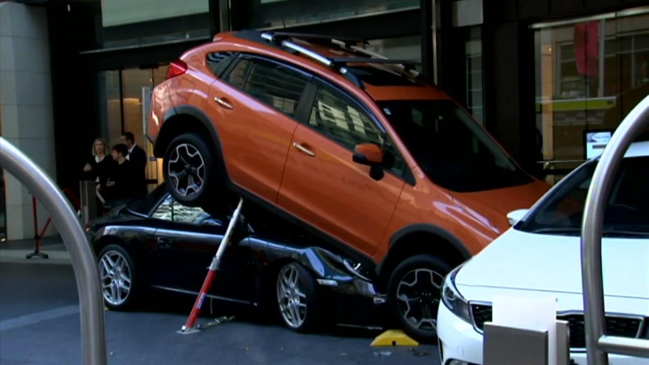 Hotel valet crashes Porsche