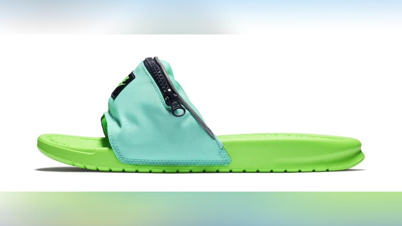 825581e09e5175 Cool for summer or fashion flop  Nike introduces fanny pack slides ...