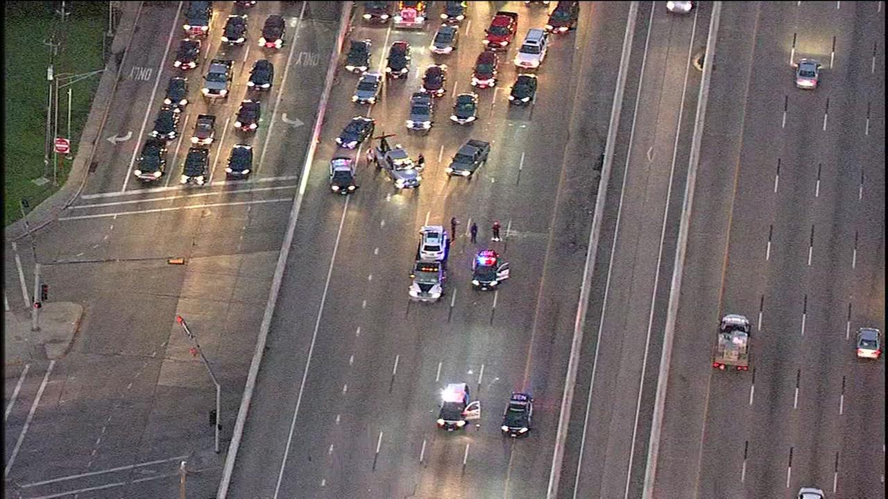Multi-vehicle wreck on 59 IB at Bellaire