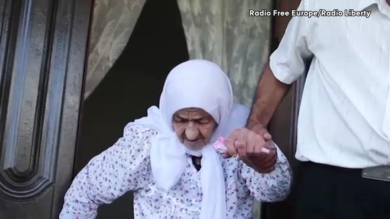 Koku Istambulova was born in 1889, making her possibly the worlds oldest woman (VIDEO CREDIT: Radio Free Europe)