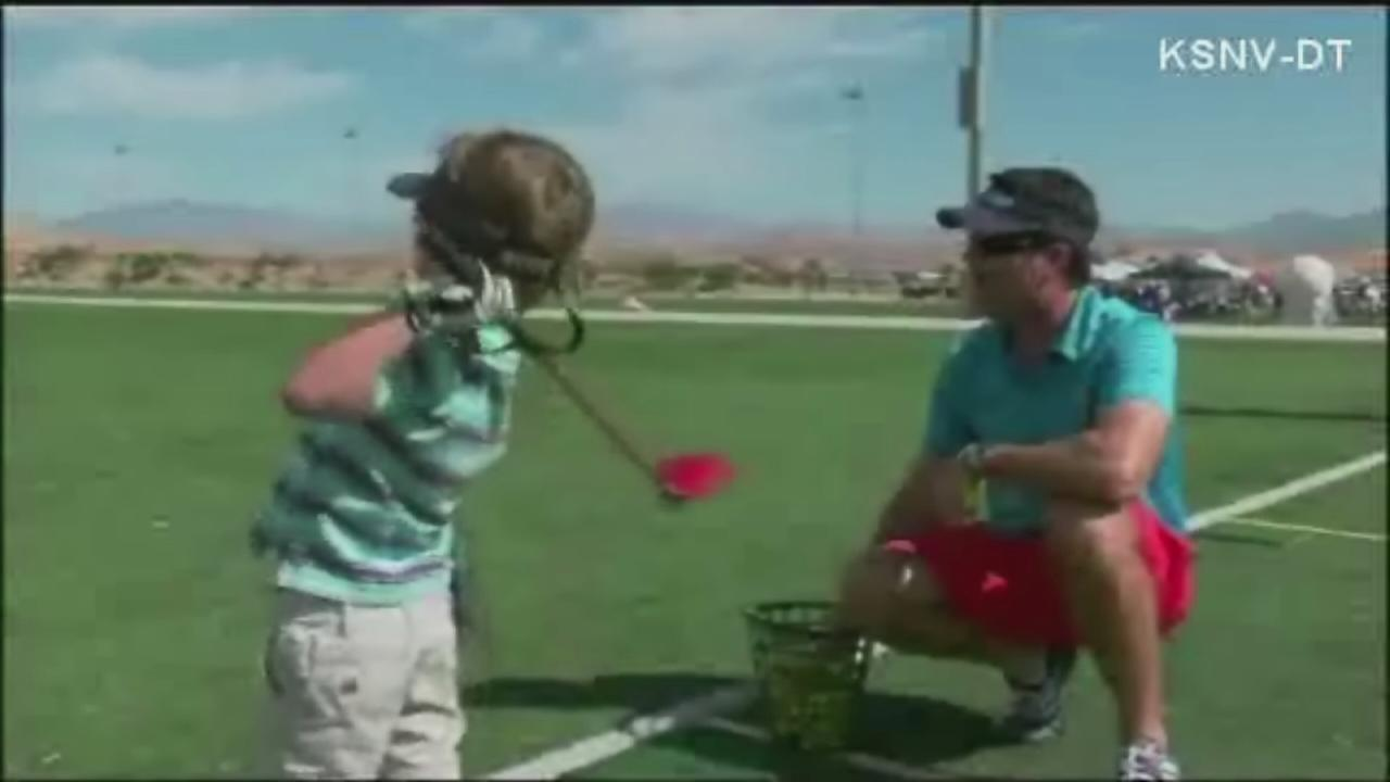 Kid golfer doesnt let disability slow him down