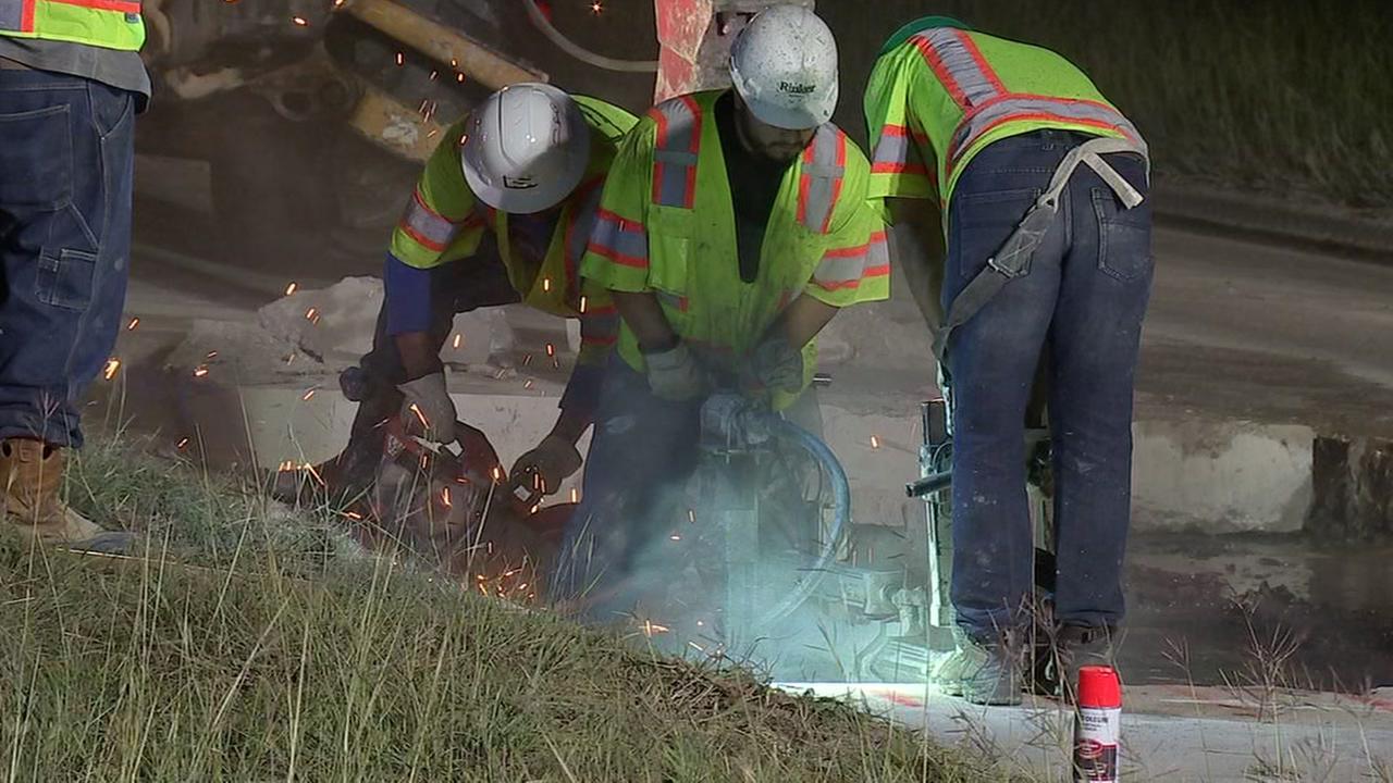 Emergency repairs on Highway 99