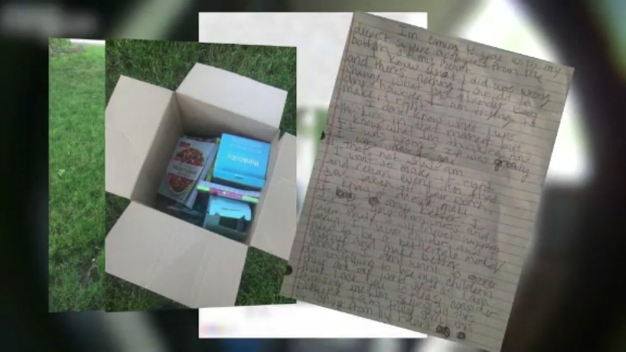 I KNOW WHAT I DID WAS WRONG: Package thief returns stolen goods, writes an apology letter