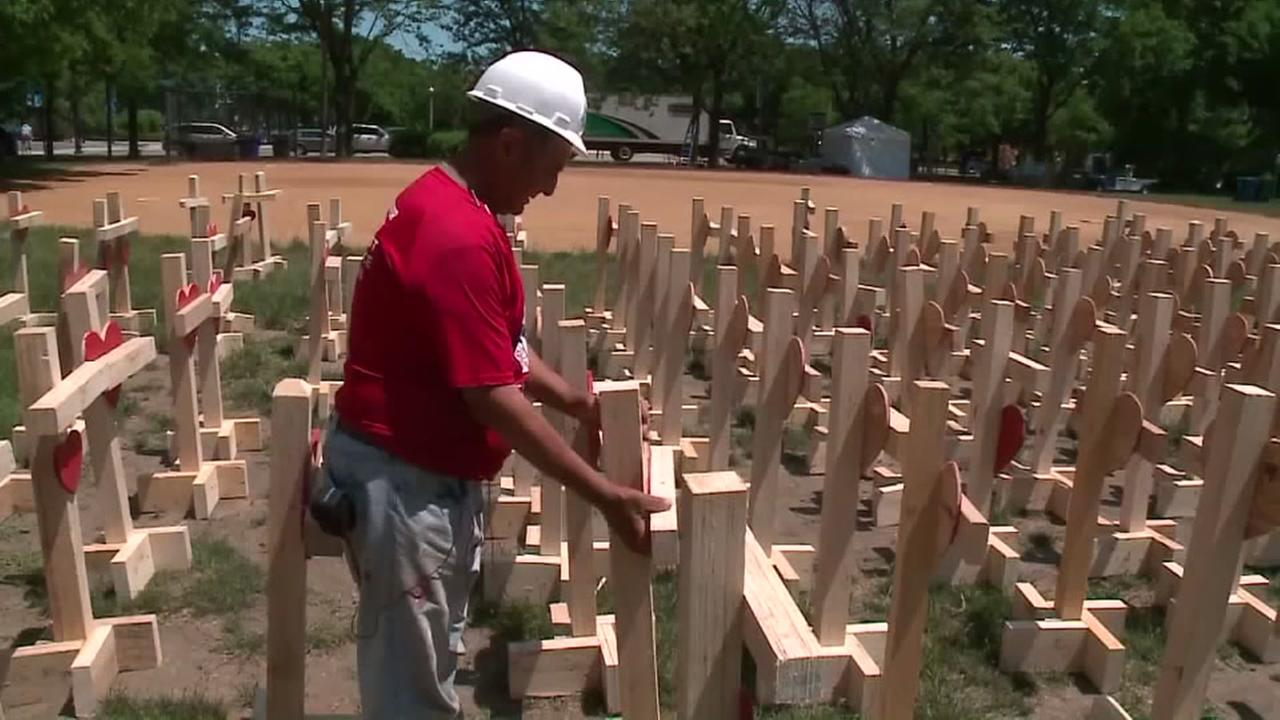 Wooden crosses remind us of how bad gun violence is in the U.S.
