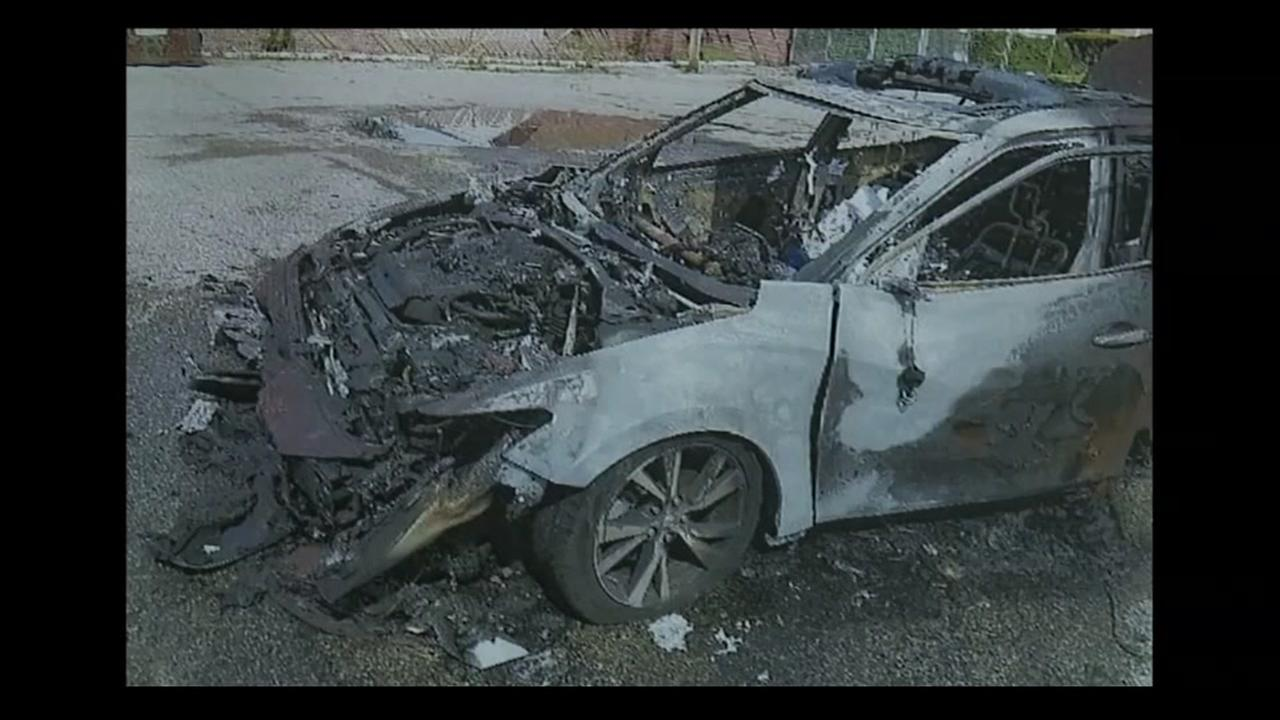 Woman says cellphones caused her car to catch on fire