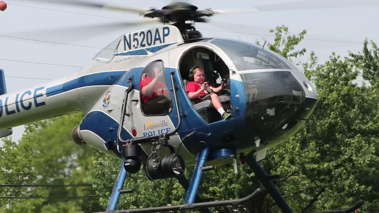 Boy with terminal cancer goes on ride of a lifetime