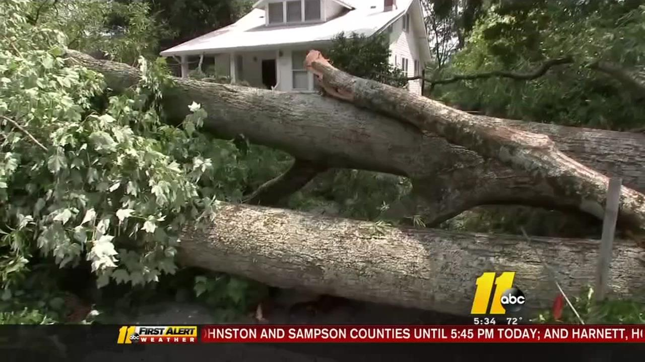 Cleanup continues in Durham after powerful storm