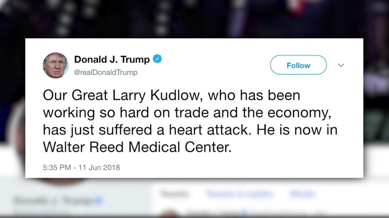 Trump econmic advisor suffers heart attack