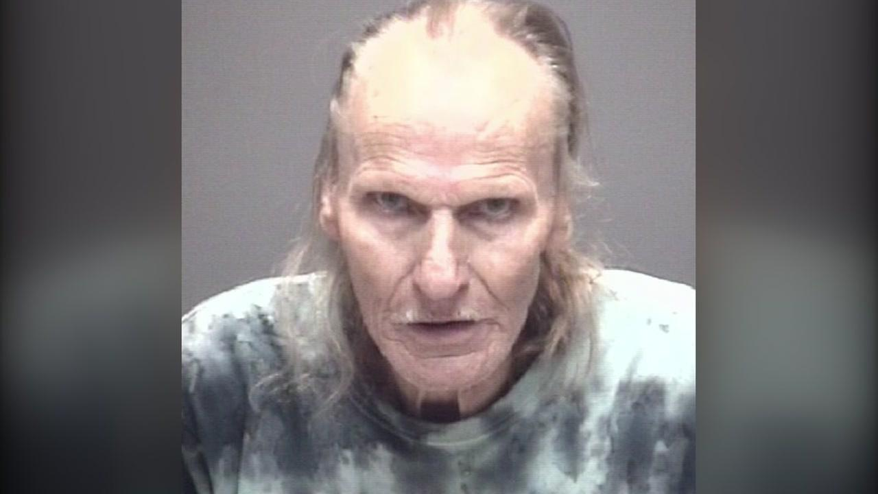 A 72 year old Galveston County man has been charged with using his riding lawnmower to pelt three people with rocks