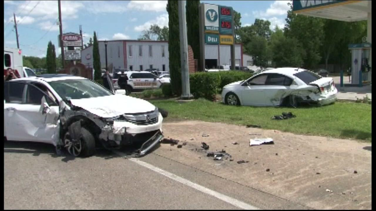 Chase ends in crash in NW Harris Co.