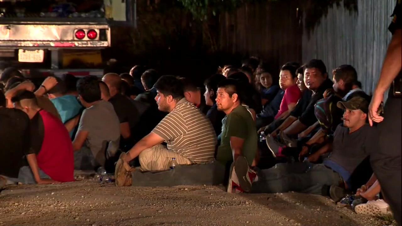 Dozens of immigrants found in truck in San Antonio