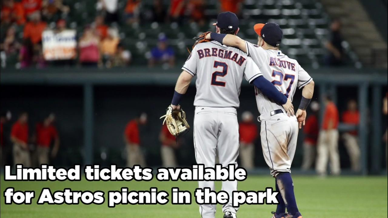 Tickets for Astros picnic still available
