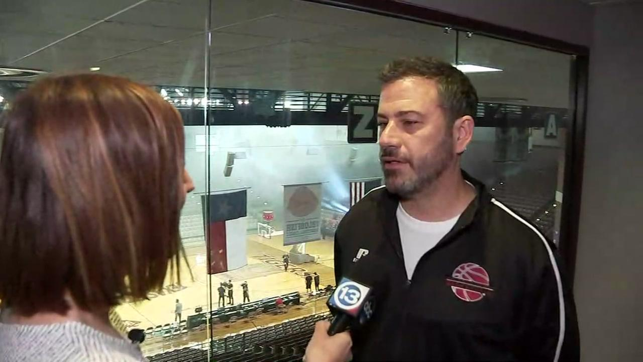 Jimmy Kimmel tells ABC13s Courtney Fischer, If I lose, Im not going home