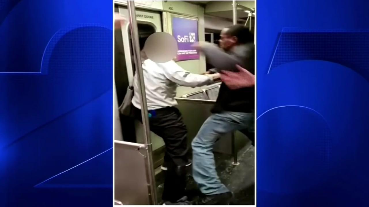 Was it an assualt on a train or self-defense?