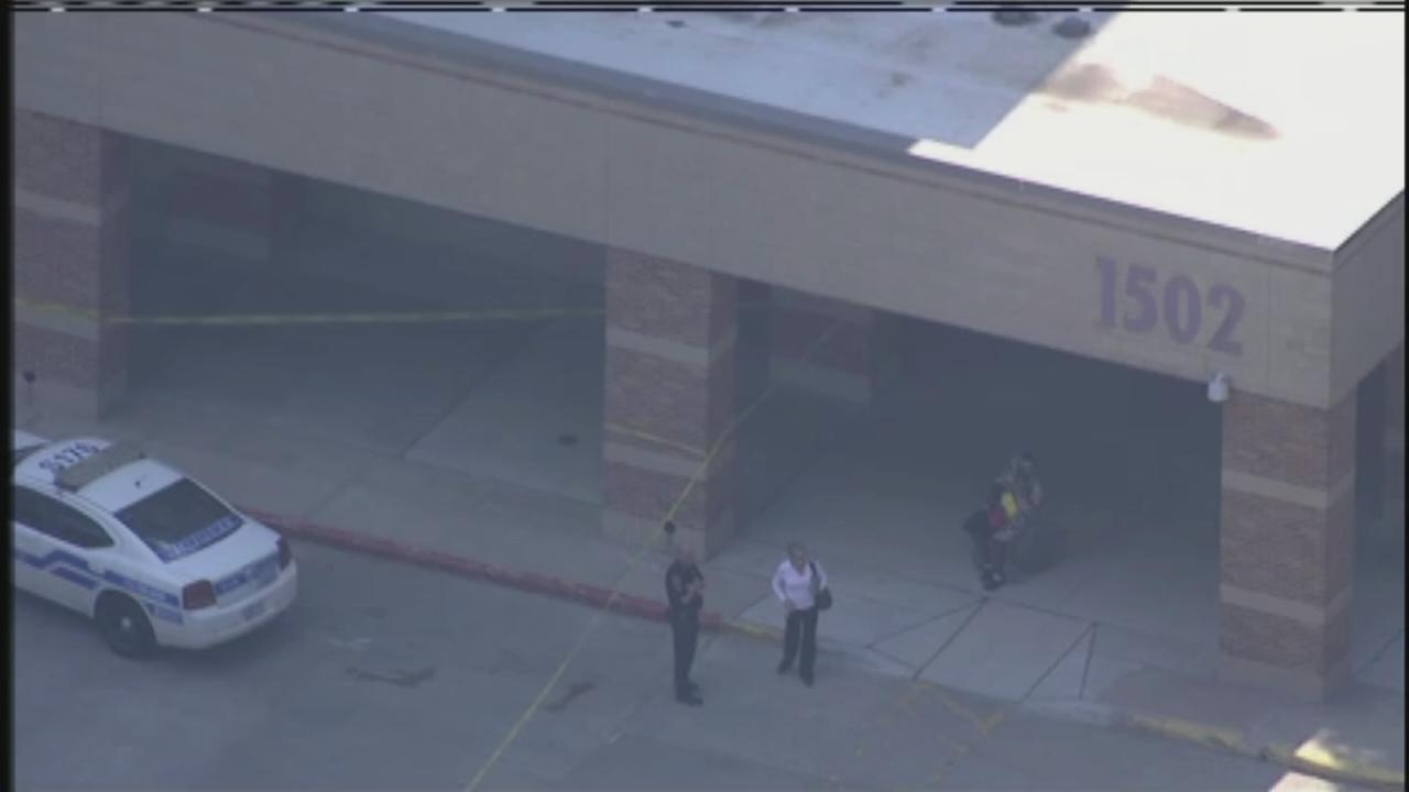 Aerials of Ben Taub Hospital shooting