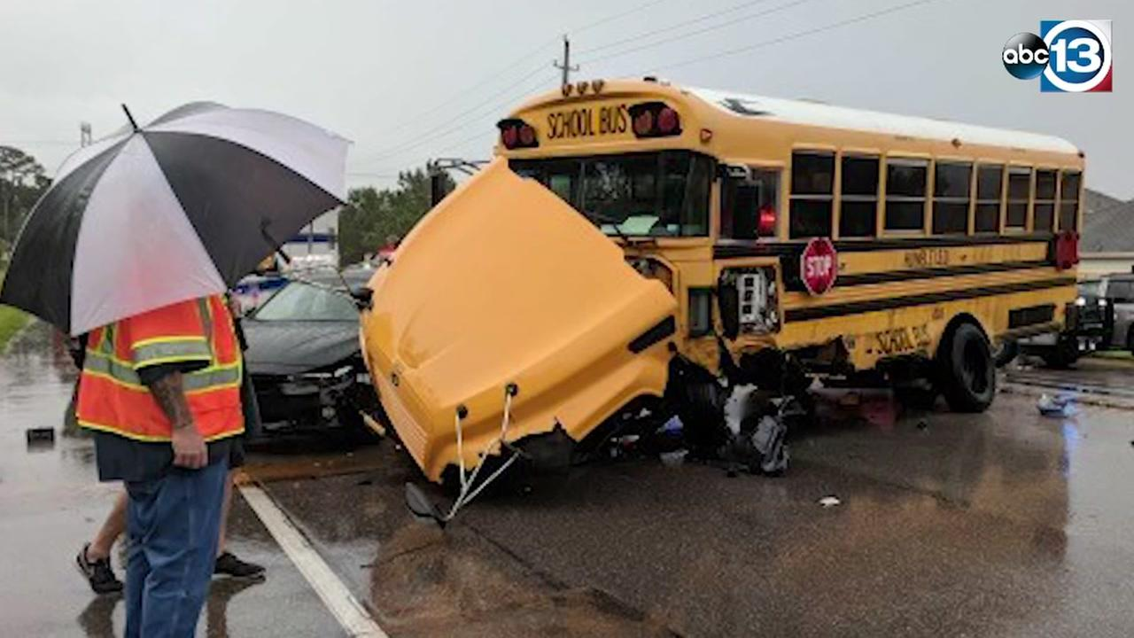 Humble ISD school bus involved in crash