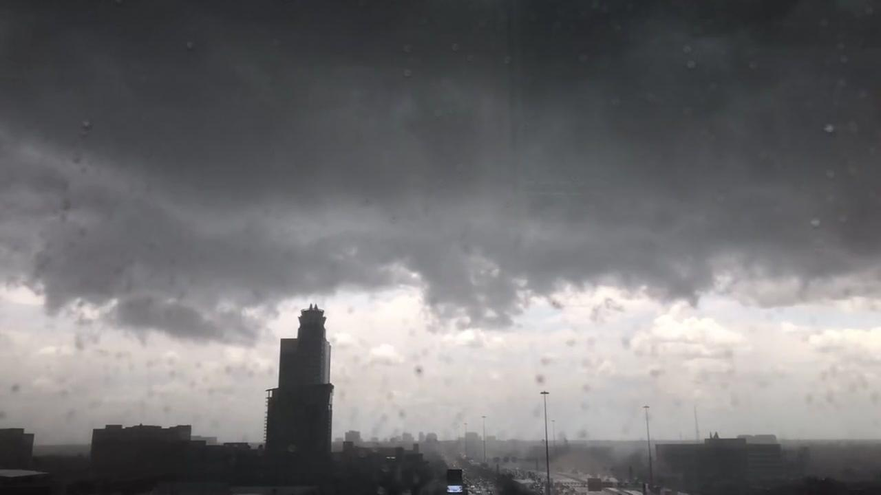 Viewers timelapse video shows storm striking Memorial City