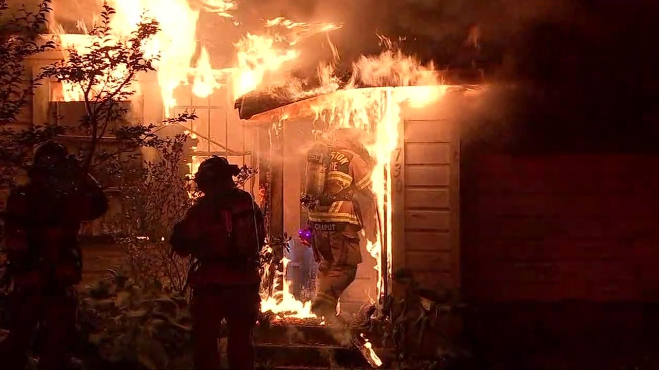 Back-to-back house fires appear suspicious